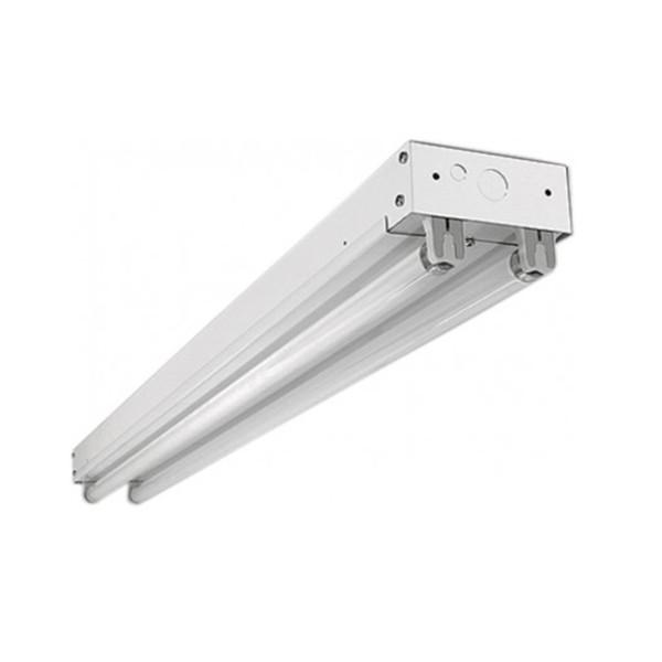 Fluorescent Strip Light Fixture On