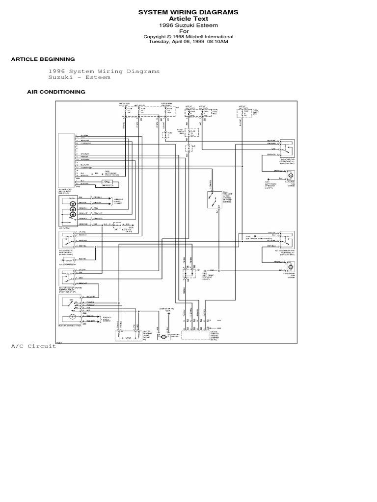 XY_3669] Suzuki Esteem Wiring Diagram Wiring DiagramOgeno Dome Mohammedshrine Librar Wiring 101