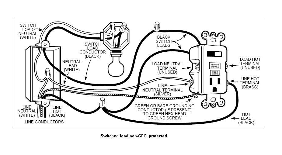 Awe Inspiring Gfci Receptacle Wiring Diagram Basic Electronics Wiring Diagram Wiring Cloud Eachirenstrafr09Org