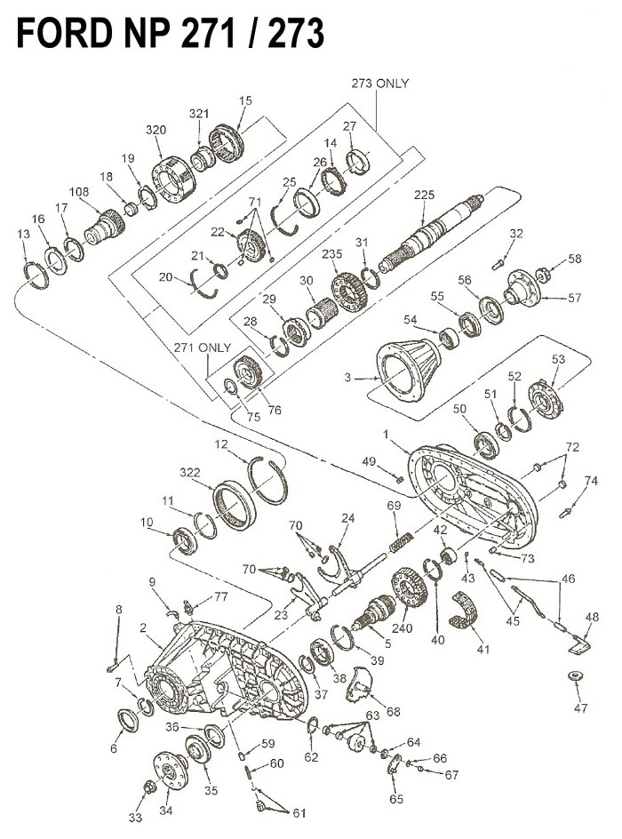 Ve 2186  Np205new Process Transfer Case Diagram Free Diagram