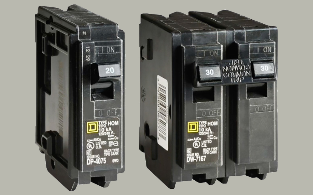 Excellent Types Of Circuit Breakers The Home Depot Wiring Cloud Waroletkolfr09Org