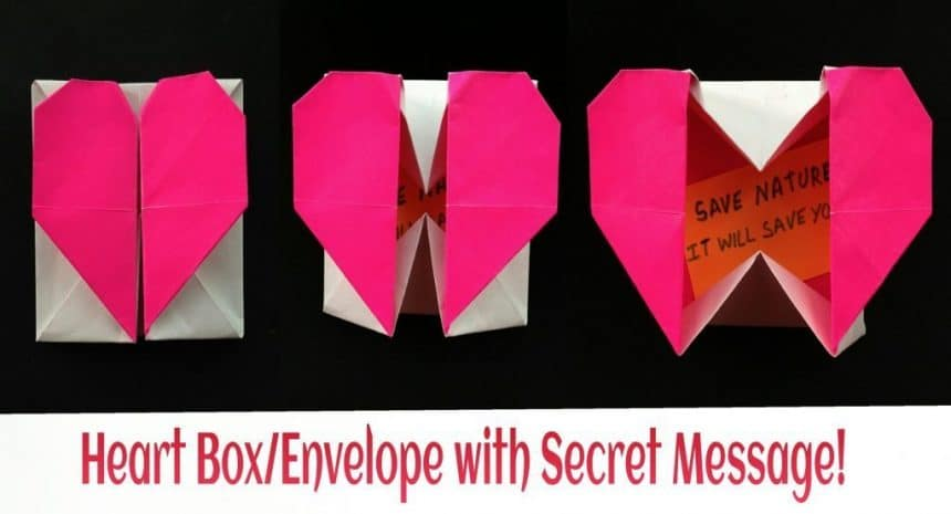 How to make an origami heart envelope for Valentine's Day | Орігамі | 465x860