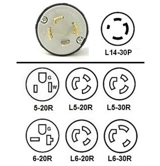 Stupendous L14 30P Generator Power Cord Plug Adapters L14 30 Locking To 5 20R Wiring Cloud Apomsimijknierdonabenoleattemohammedshrineorg