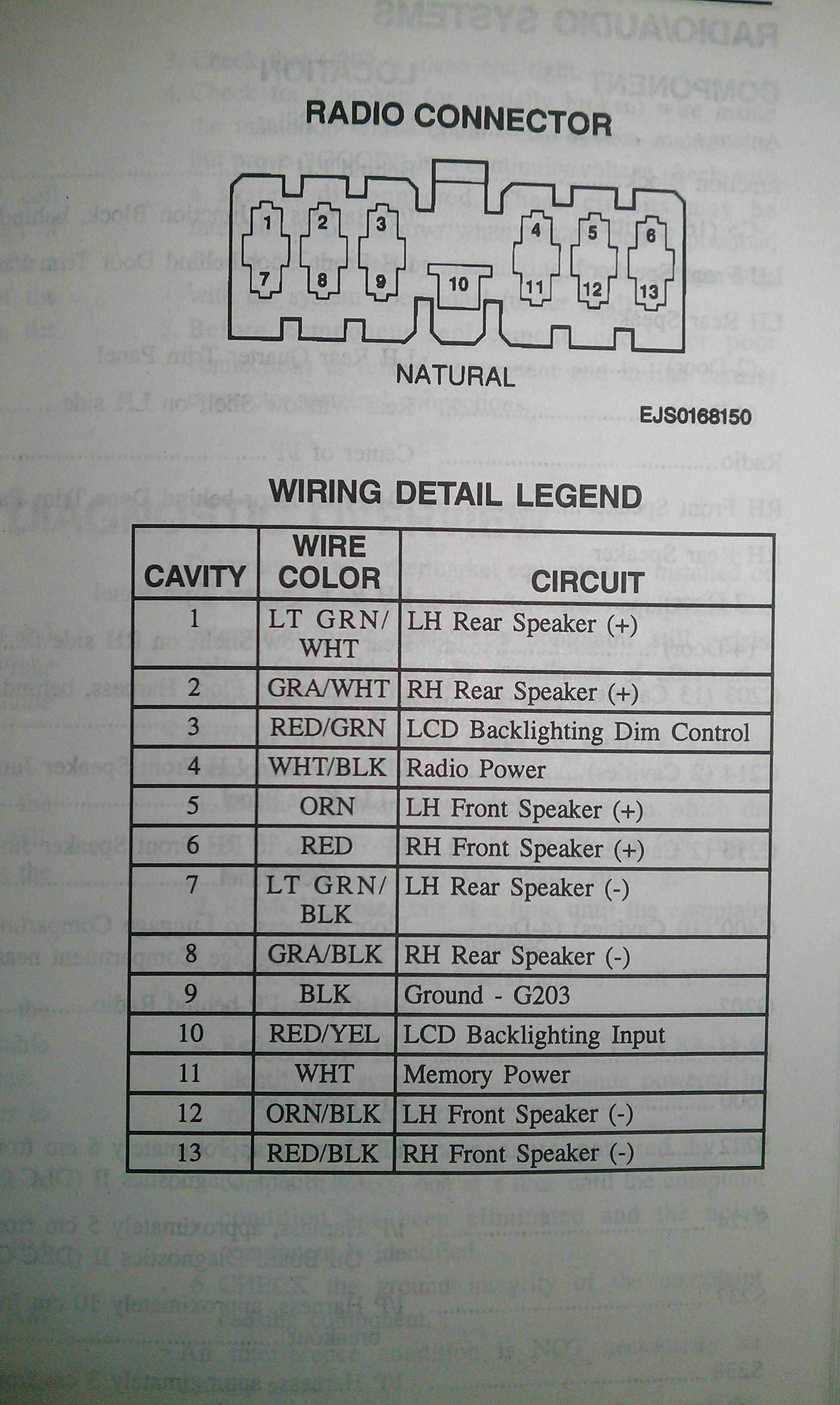 1998 Chevy Tracker Stereo Wiring Diagram - Wiring Diagram