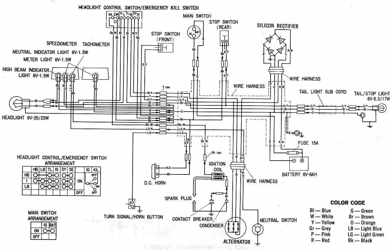 Ft 9836 Honda Motorcycle Wiring Color Codes Schematic Wiring