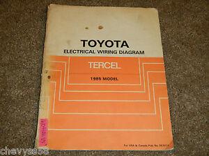 Pleasing 1985 85 Toyota Tercel Electrical Wiring Diagram Manual Ebay Wiring Cloud Onicaalyptbenolwigegmohammedshrineorg