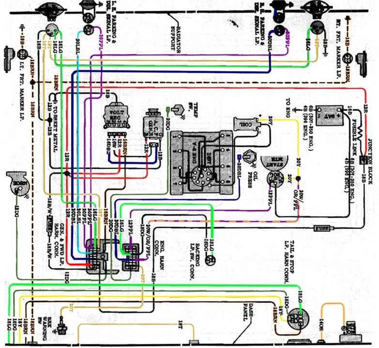 1972 chevy truck wiring schematic 2007 f150 wiring diagram
