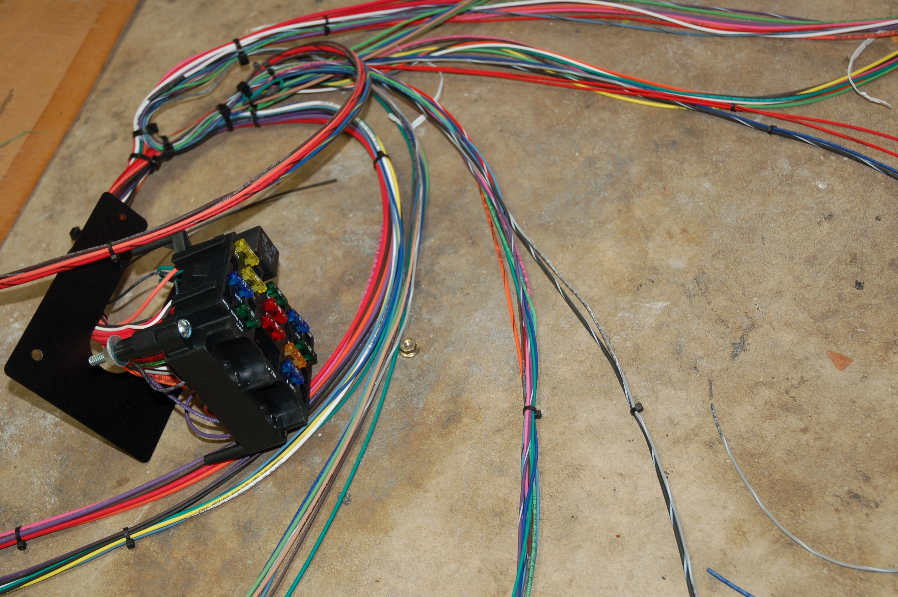 Amazing In Our Garage Installing A New Wiring Harness Hemmings Daily Wiring Cloud Hemtshollocom