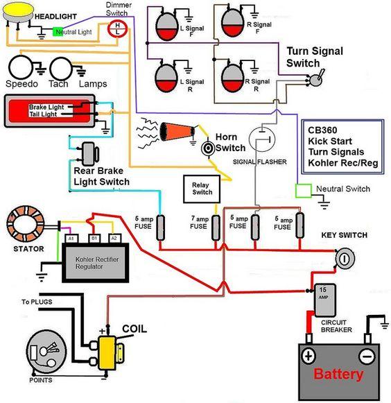 wiring diagram kick start motorcycle cafe racer wire diagram wiring diagram data  cafe racer wire diagram wiring