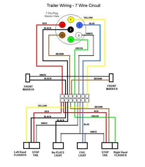 mk4811 7way rv trailer connector wiring diagram etrailer