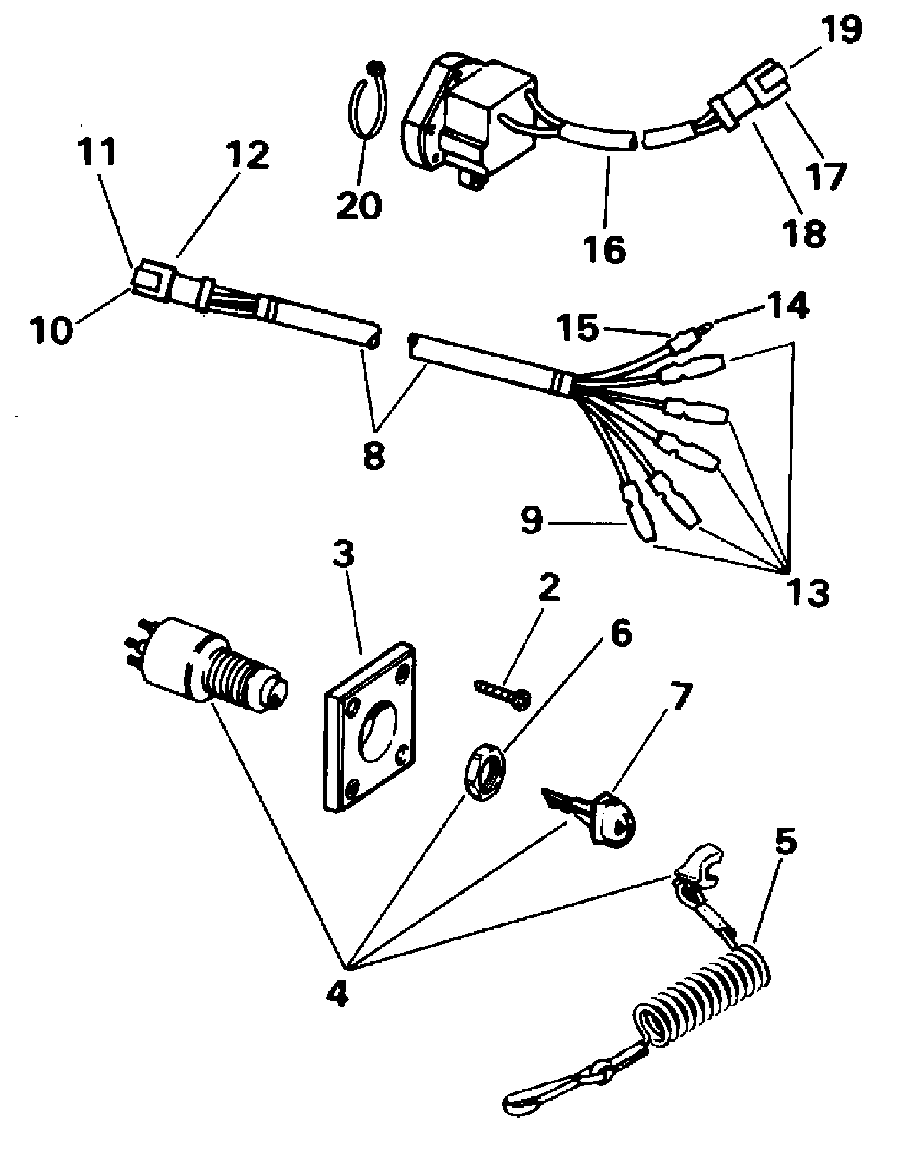 ZB_6308] Omc 5005801 Ignition Switch Wiring Diagram Free Diagram