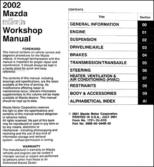 TC_1422] 2001 Mazda Millenia Engine Diagram Wiring DiagramVira Subd Lite Tixat Rosz Trons Mohammedshrine Librar Wiring 101