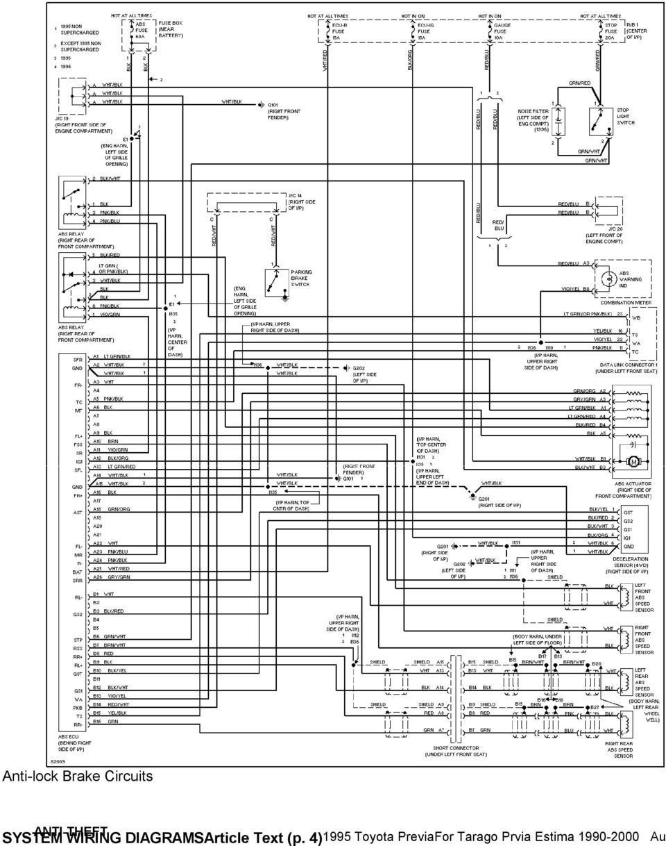 Tremendous 1995 System Wiring Diagrams Toyota Previa 2 4L Sc A C Circuit Wiring Cloud Dulfrecoveryedborg