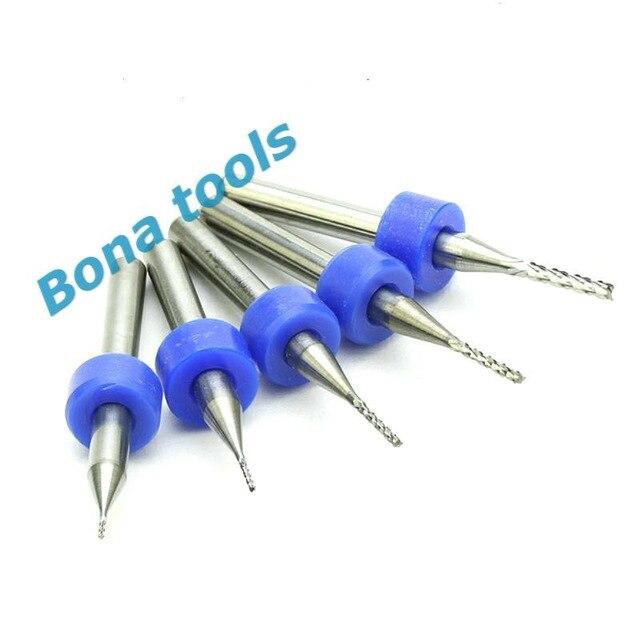 Milling Cutters Set Kit Mini PCB Carbide Tool End Mill CNC Cutting Bits With Box