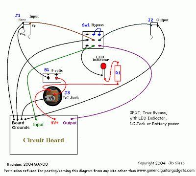 Xh 2559 3pdt Wiring Pedal Schematic Wiring