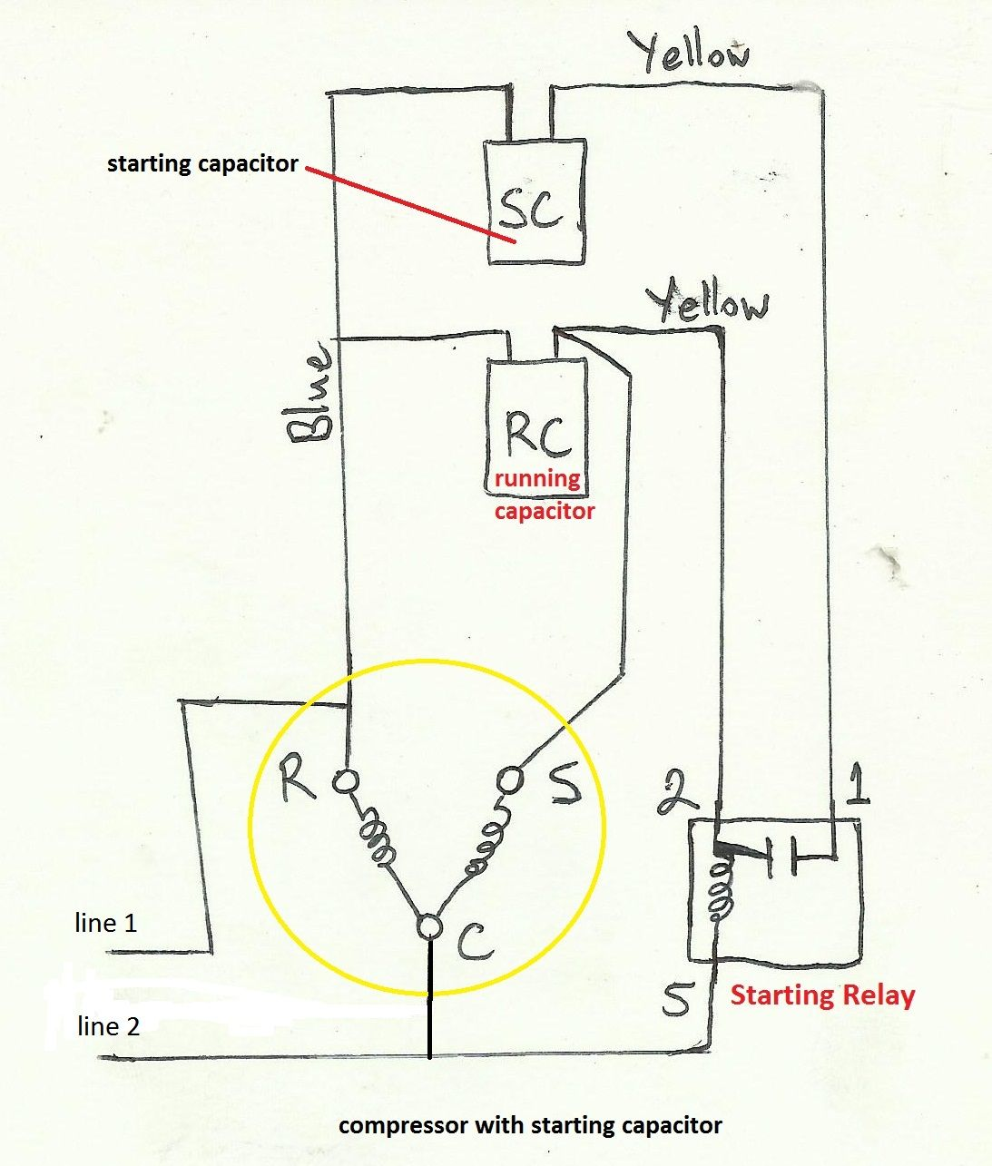 Incredible Potential Relay Start Capacitor Wiring Diagram Basic Electronics Wiring Cloud Grayisramohammedshrineorg