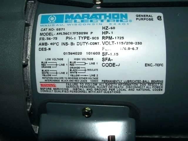 sl4923 marathon electric motor 1 hp wiring diagram free