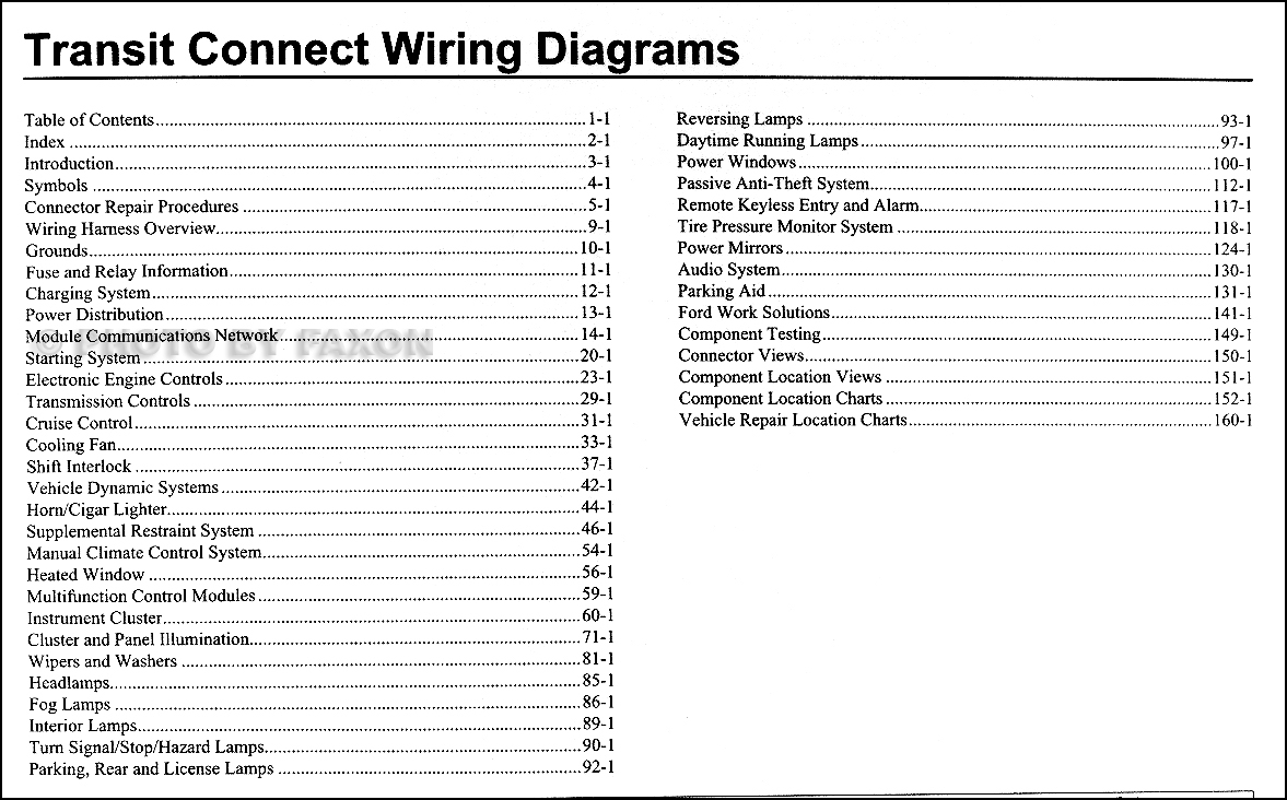 Cd 2910  Ford Transit Connect Fuse Box Wiring Diagram