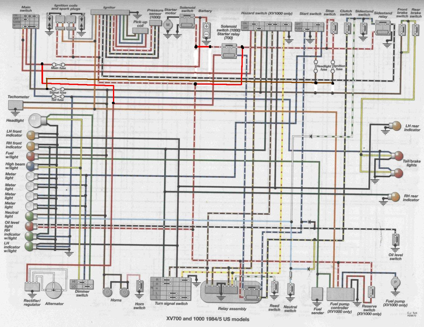 yamaha virago 920 engine diagram - wiring diagram data yamaha xv1100 virago wiring diagram  tennisabtlg-tus-erfenbach.de
