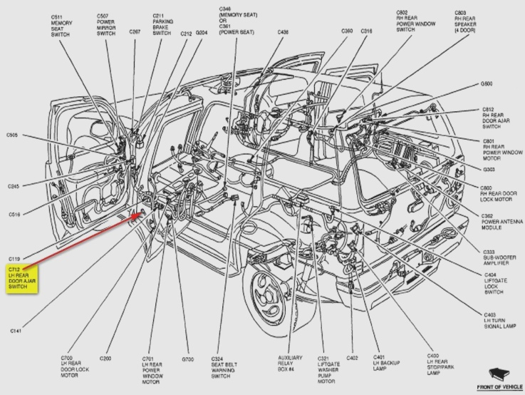 Awesome Lovely 2002 Ford Explorer Door Jamb Switch Wiring Diagram Ideas Wiring Cloud Licukshollocom