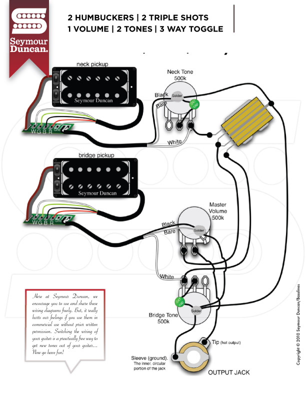 Fantastic 3 Way Switch With Dual Humbuckers Seymour Duncan Wiring Diagrams Wiring Cloud Rineaidewilluminateatxorg