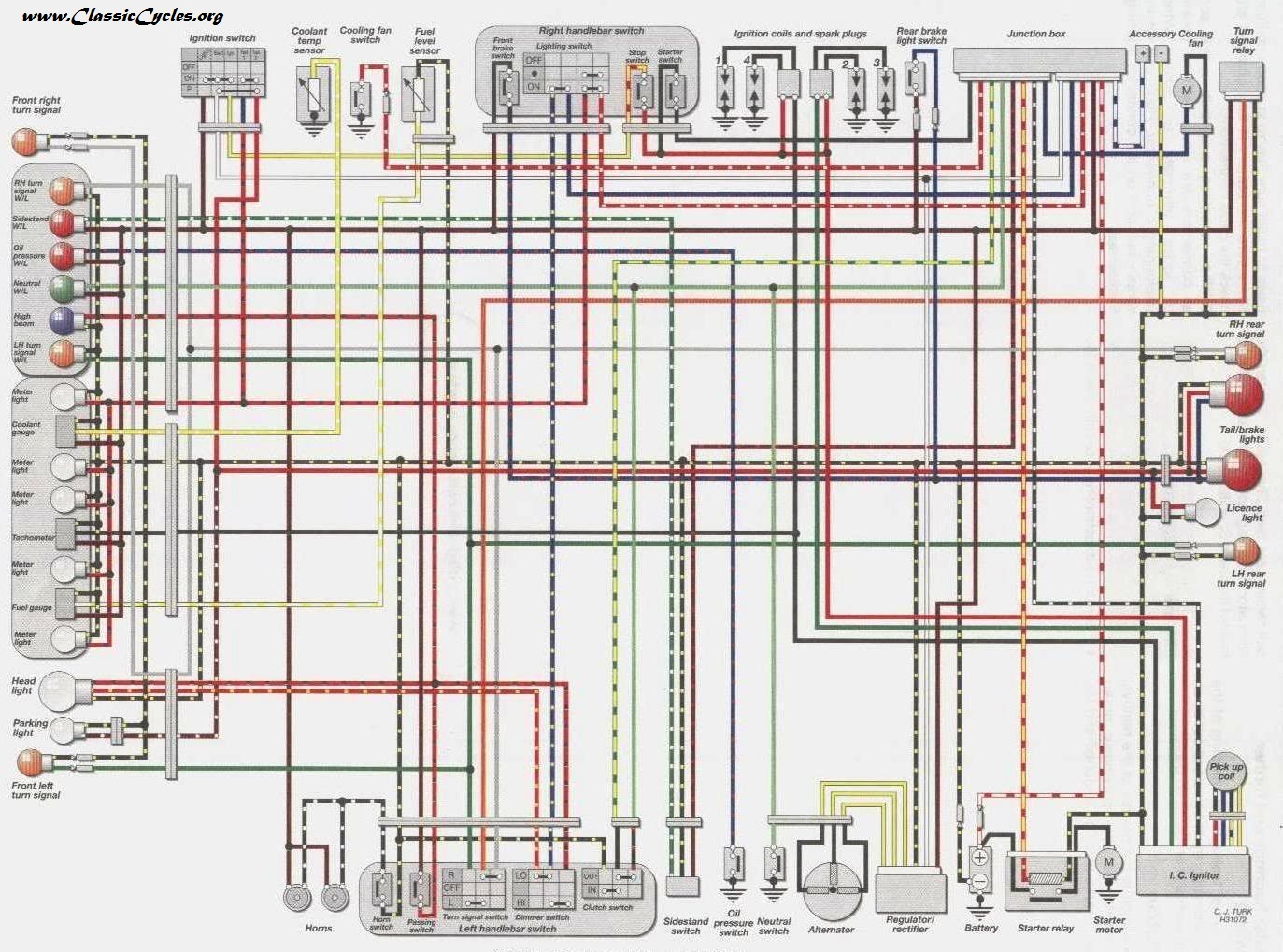 Groovy Kawasaki Motorcycle Wiring Diagrams Wiring Cloud Overrenstrafr09Org
