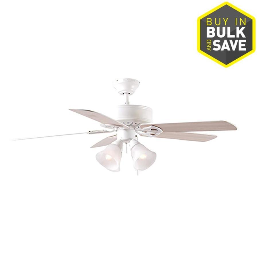 Brilliant Harbor Breeze Springfield Ii 52 In White Indoor Ceiling Fan With Wiring Cloud Histehirlexornumapkesianilluminateatxorg