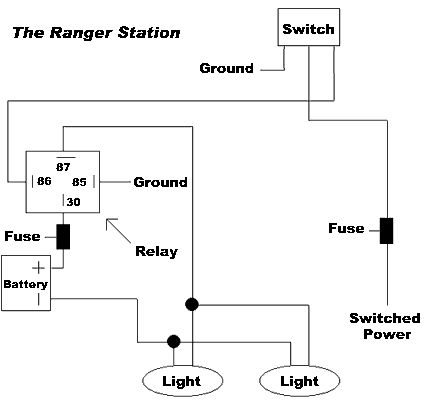 hid 5 pin relay wiring diagram  single wire diagram