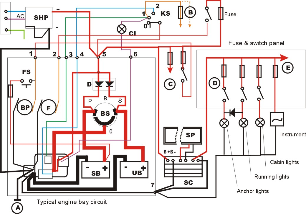 Marine Electrical Wiring Diagrams Wiring Diagram For Ps2 For Wiring Diagram Schematics