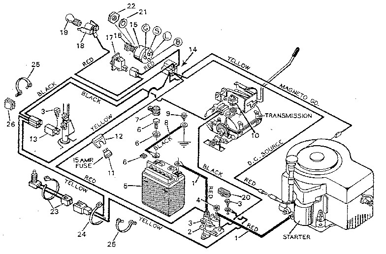 Wiring Diagram For A Murray Riding Mower