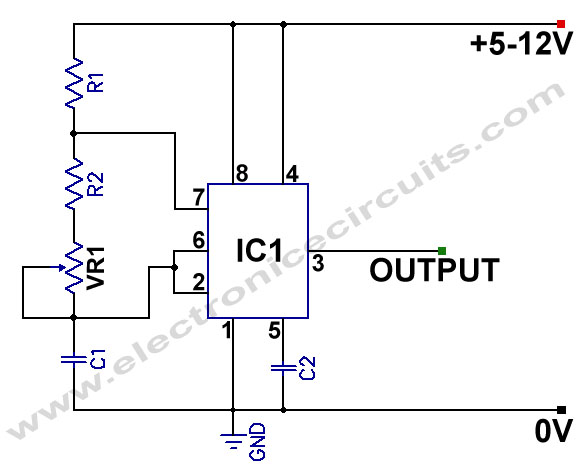 Stupendous 555 Variable Frequency Square Wave Generator Electronic Circuits Wiring Cloud Faunaidewilluminateatxorg