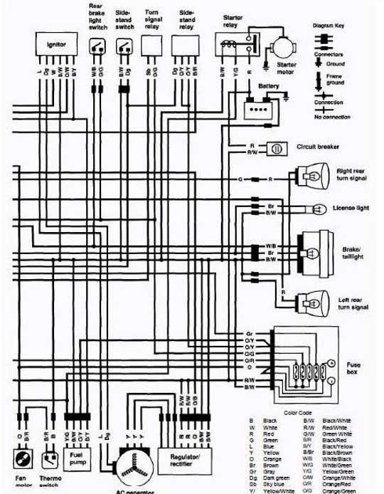 1986 Suzuki Intruder Wiring Diagram