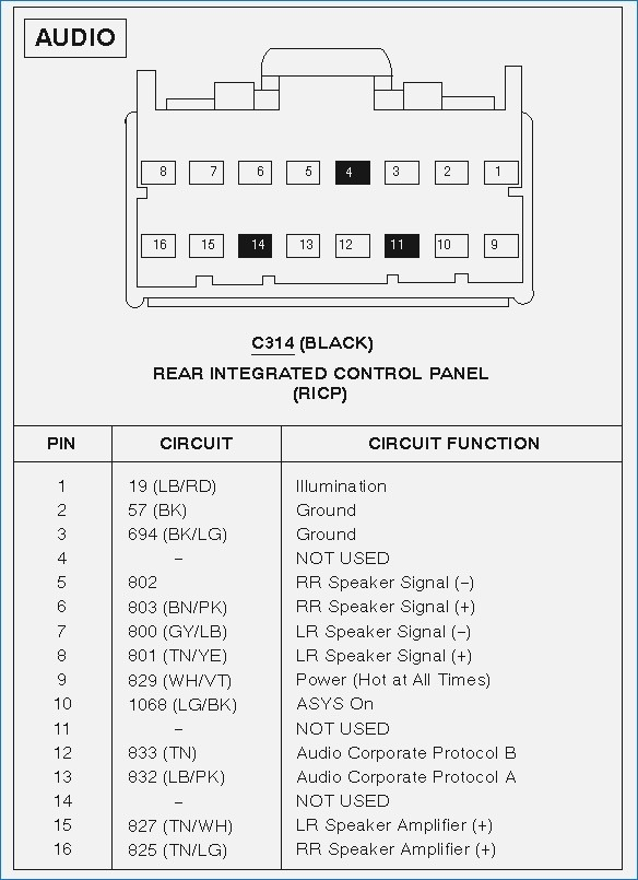 1998 ford expedition stereo wiring diagram  center wiring