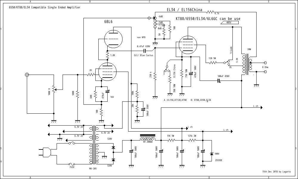 Admirable Singleended 6550 Tube Amp Schematic With 12Dw7 Driver Stage Better Wiring Cloud Counpengheilarigresichrocarnosporgarnagrebsunhorelemohammedshrineorg