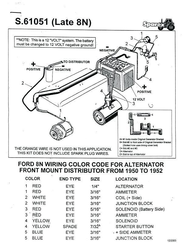 1952 ford 8n 12 volt wiring diagram rn 7746  1950 8n ford tractor wiring diagram 6 volt besides ford  8n ford tractor wiring diagram 6 volt
