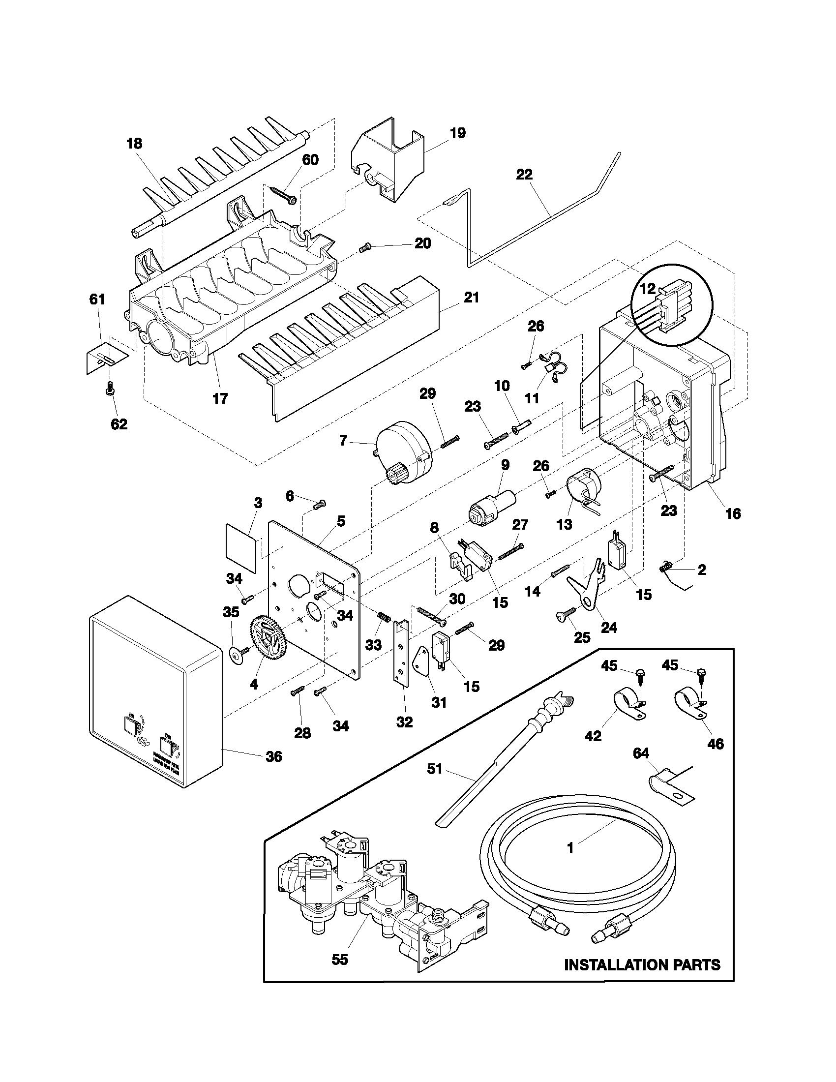 frigidaire refrigerator parts diagram