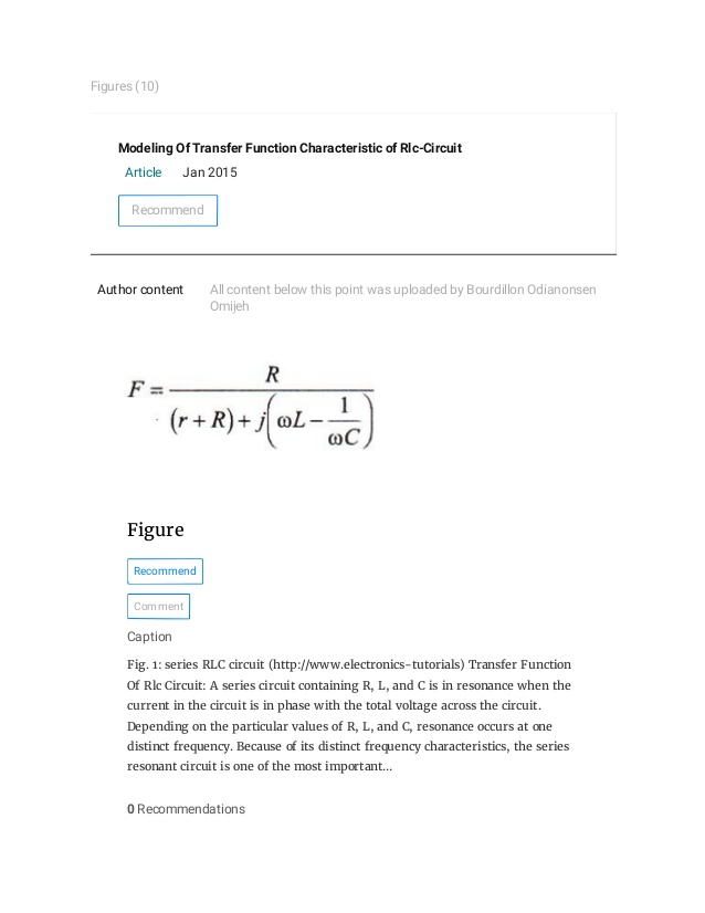 Groovy 8 Modeling Of Transfer Function Characteristic Of Rlc Circuit Wiring Cloud Ostrrenstrafr09Org