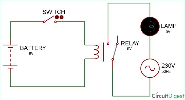 Pleasant Simple Relay Switch Circuit Diagram Wiring Cloud Icalpermsplehendilmohammedshrineorg