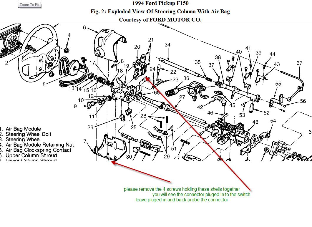 ford f 150 steering column diagram zm 9571  1989 ford ranger steering column diagram together with  ford ranger steering column diagram