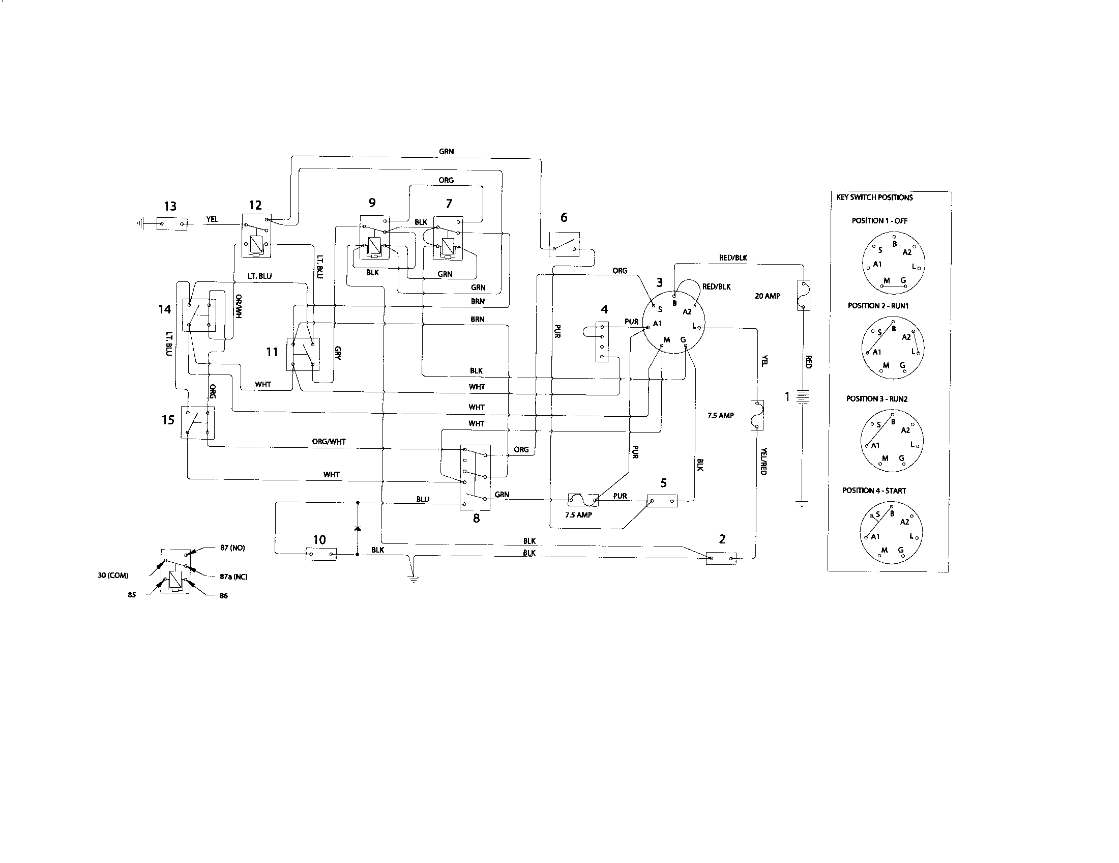 Lawn Mower Electrical Schematic