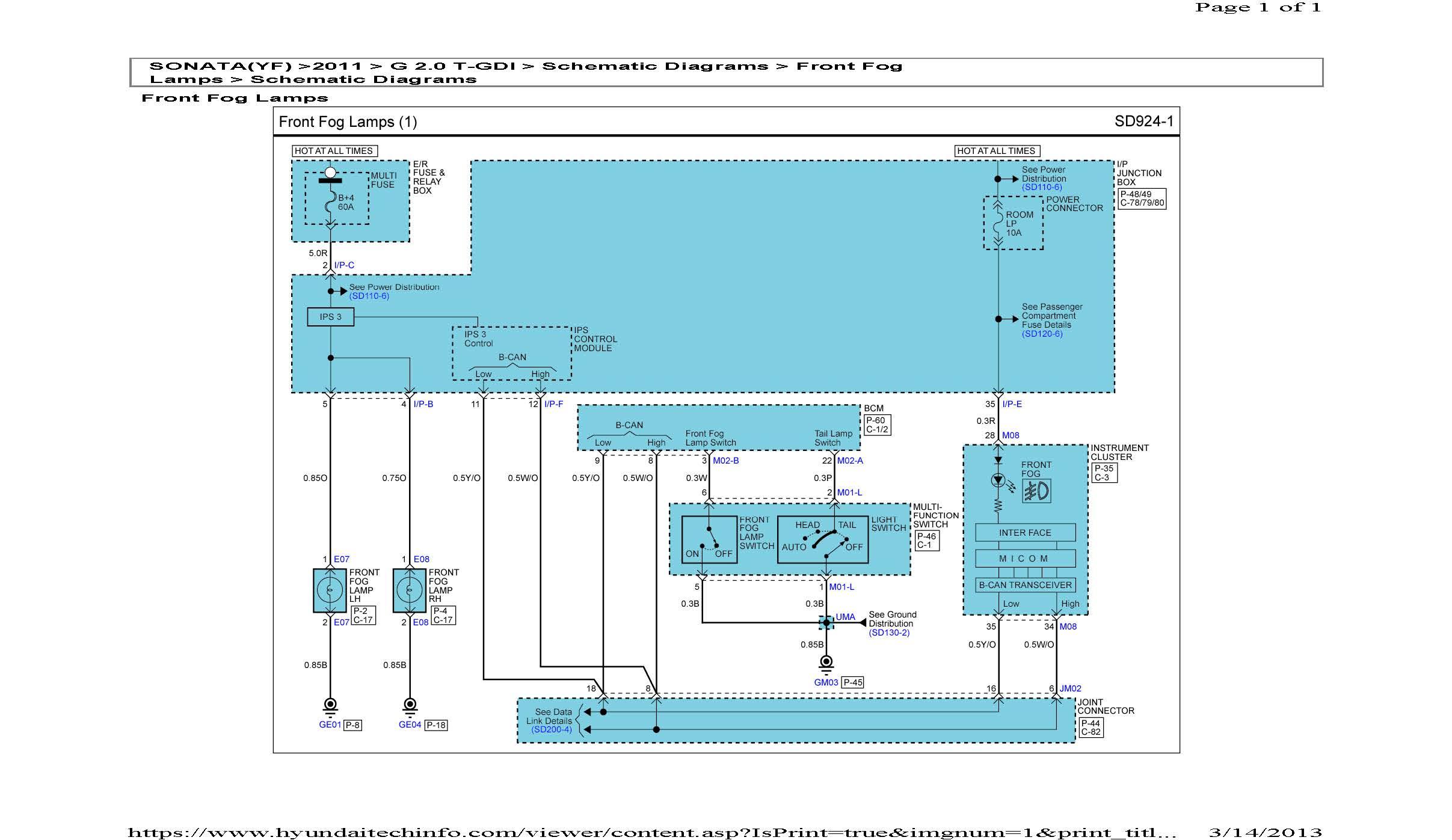 Pleasant Need The Headlight And Fog Light Wiring Diagram For 2012 Hyundai Wiring Cloud Ymoonsalvmohammedshrineorg