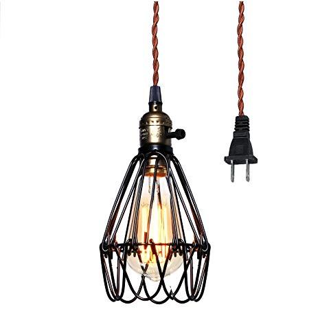 Fabulous Vintage Pendant Light Pauwer Wire Cage Lamp Plug In Edison Pendant Wiring Cloud Counpengheilarigresichrocarnosporgarnagrebsunhorelemohammedshrineorg