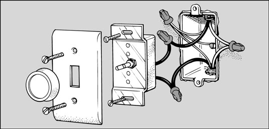 Tremendous How To Replace A Light Switch With A Dimmer Dummies Wiring Cloud Unhoicandsaprexeroixtuhyedimohammedshrineorg