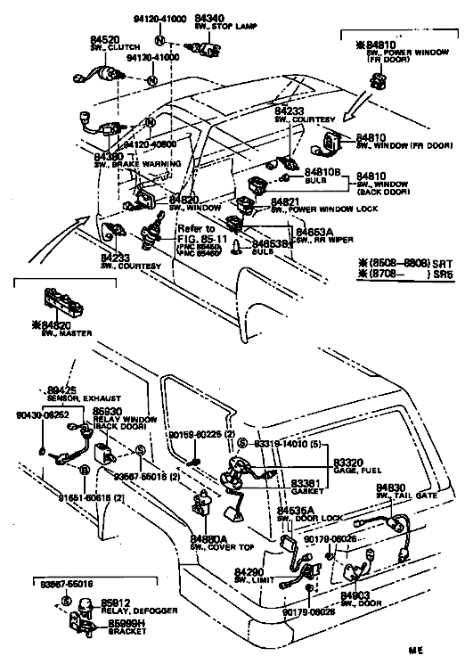 1988 toyota pickup wiring diagram og 4135  toyota 4runner electrical wiring diagram on 1988 toyota  electrical wiring diagram