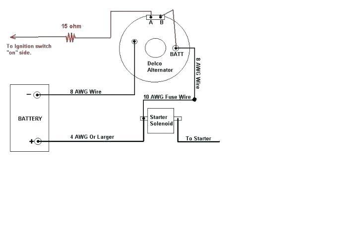 ax4767 gm alternator wiring diagram also gm one wire