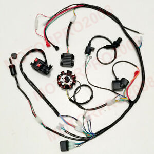 Astonishing Buggy Wiring Harness Loom Gy6 150Cc Atv Stator Electric Start Kandi Wiring Cloud Licukshollocom
