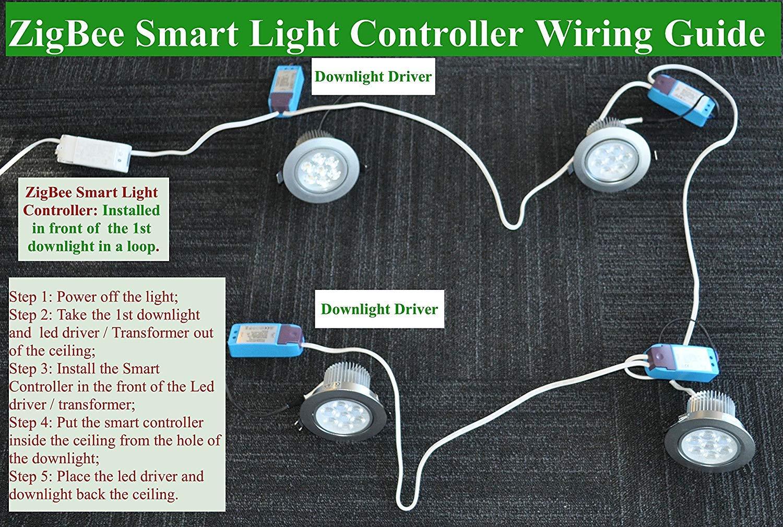 Stupendous Smart Zigbee Licht Dimmer Fur Echo Plus Zigbee Bridge Smartthings Wiring Cloud Gufailluminateatxorg