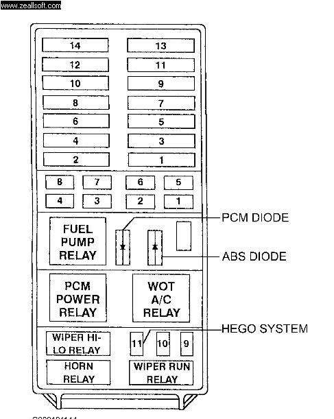 1997 ford explorer xlt fuse box diagram  description wiring