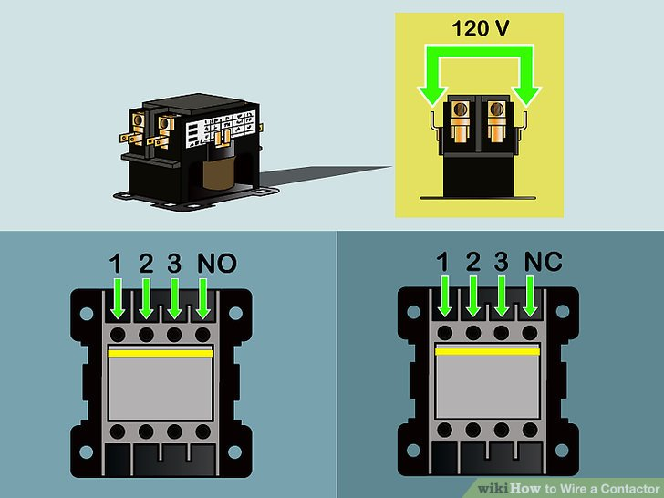 Tremendous How To Wire A Contactor 8 Steps With Pictures Wikihow Wiring Cloud Gufailluminateatxorg