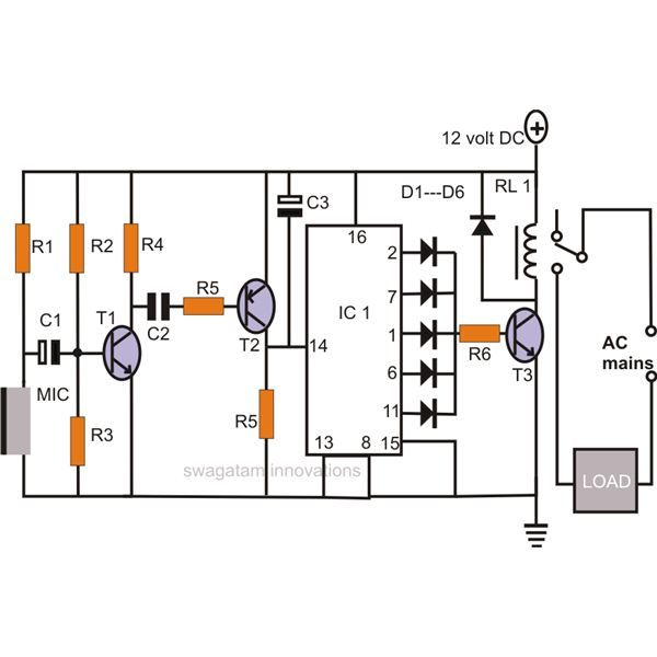 Tremendous Make A Simple Electronic Clap Switch Circuit Want To Build A Simple Wiring Cloud Vieworaidewilluminateatxorg